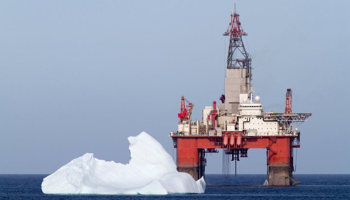 Oil rig in the Arctic