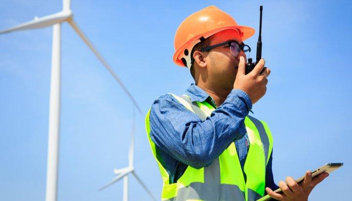 Wind energy worker
