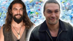 Jason Momoa banishes his beard to draw attention to plastic waste