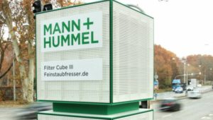 Air filters at German junction suck up harmful dust and nitrogen dioxide
