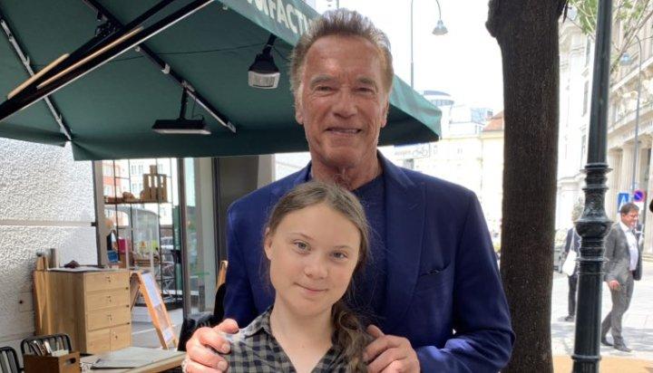 Greta Thunberg and Arnold Schwarzenegger