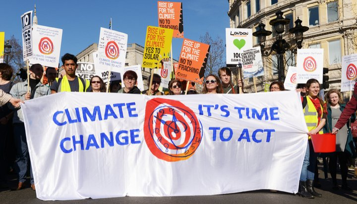 Climate change protest in the UK