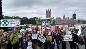 'Time is Now' mass lobby for the climate hits Westminster