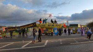 Extinction Rebellion activists blockade Preston New Road fracking site