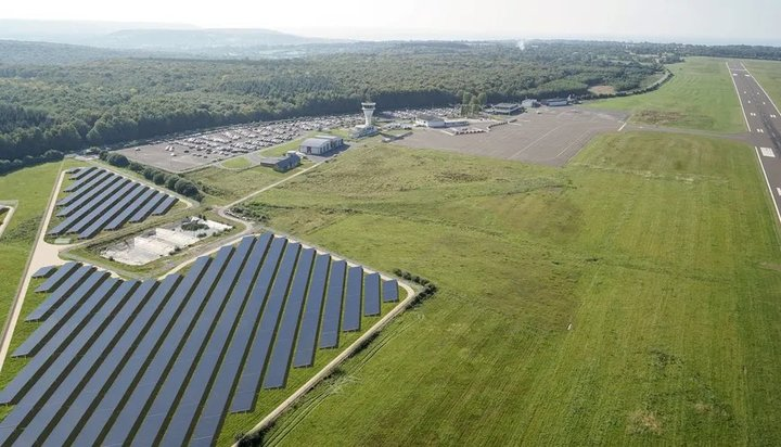 EDF's new solar PV plant at French airport ready for takeoff