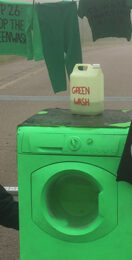 XR activists block SSE power station with washing machine