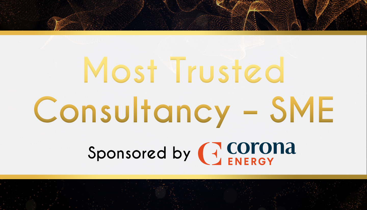 Award Sponsor - Corona Energy - Most Trusted Consultancy – SME