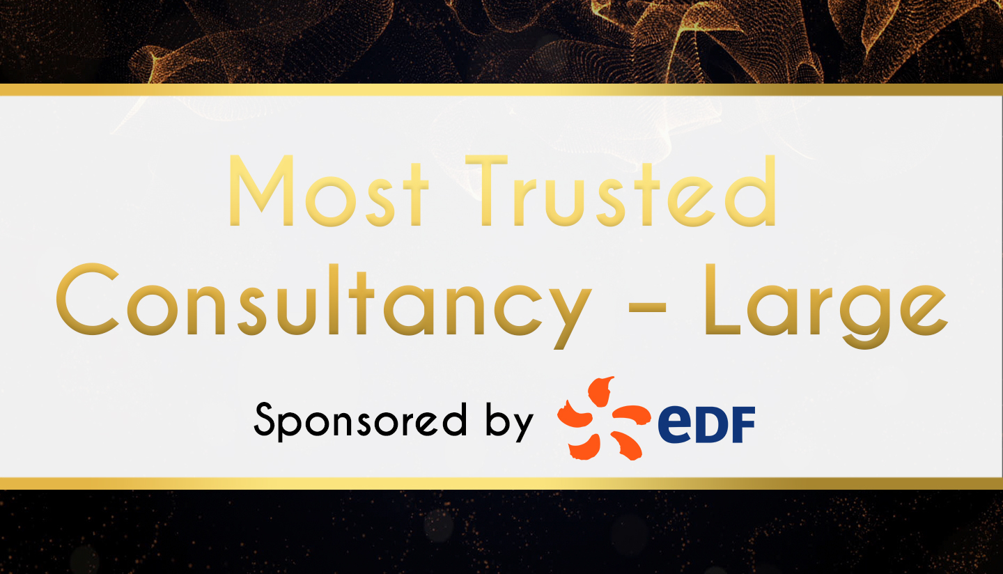 Award Sponsor - EDF - Most Trusted Consultancy – Large