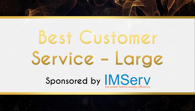 Award Sponsor - IMserv - Best Customer Service – Large