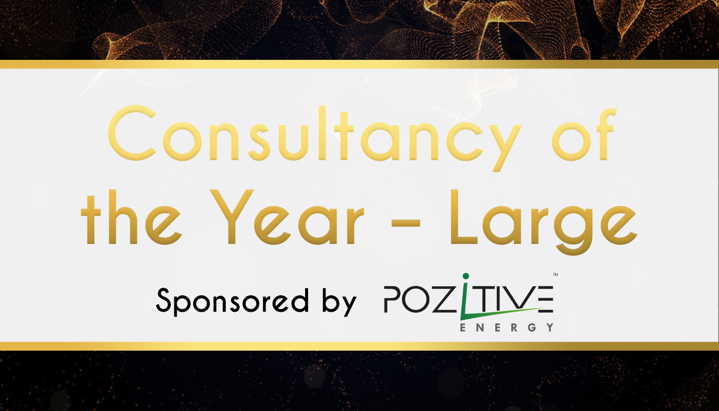 Award Sponsor - Pozzitive Energy -Consultancy of the Year – LARGE
