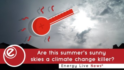 Are this summer's sunny skies a climate change killer?