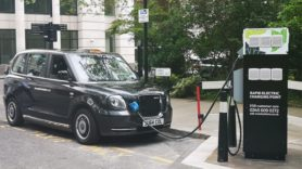 City of London plugs in rapid charger for electric taxis