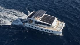 Solar-powered yacht surfs towards electric-assisted sailing