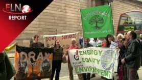 Greens protest against Drax big biomass